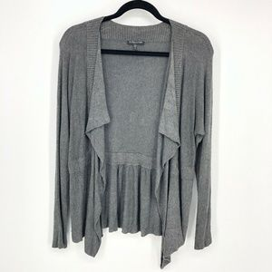 Eileen Fisher Viscose Open Front Drape Cardigan